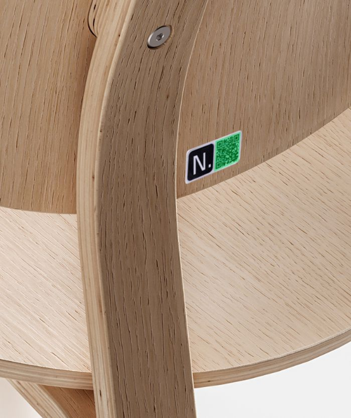 QR Code on NORNORM wooden chair