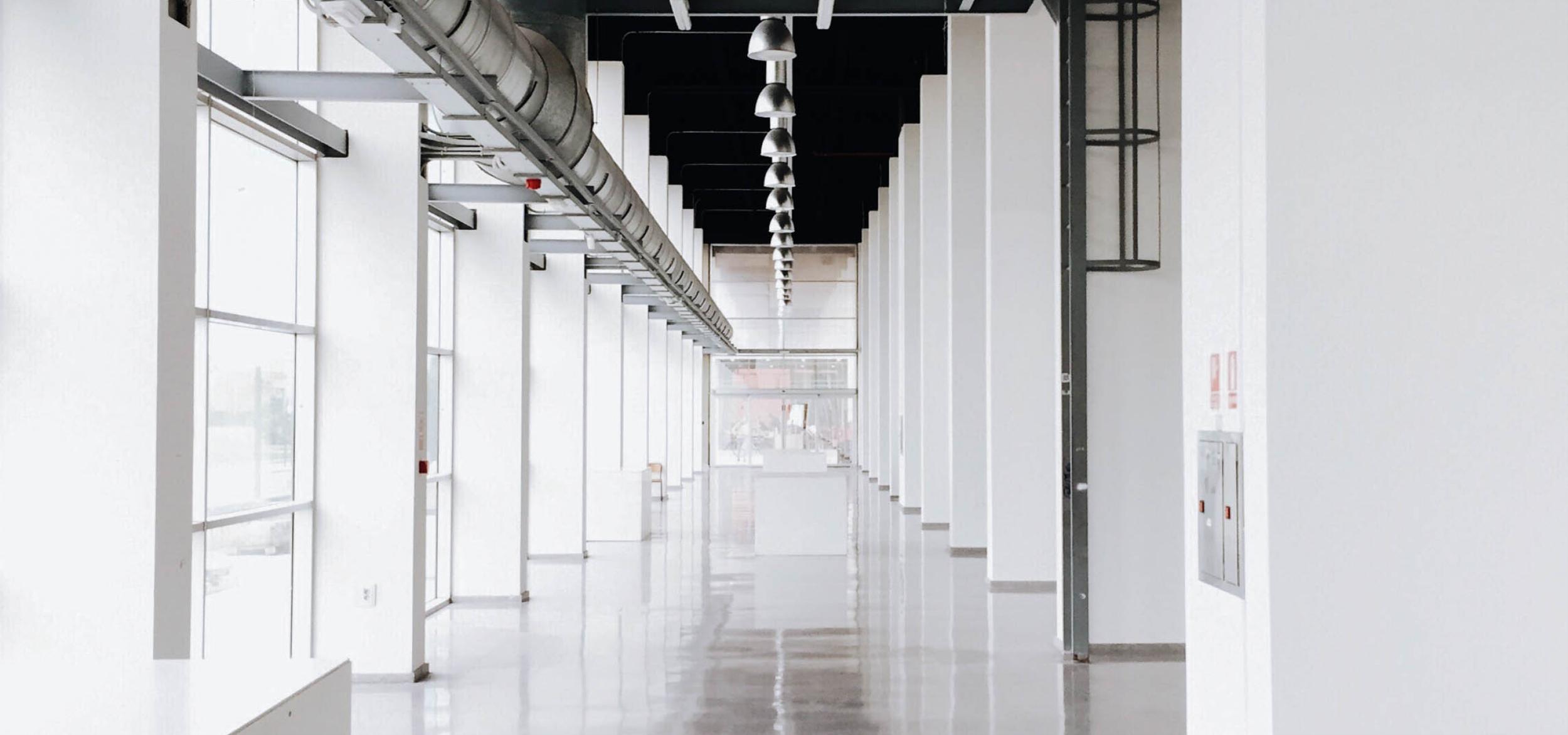 Empty Office Hallway Urban