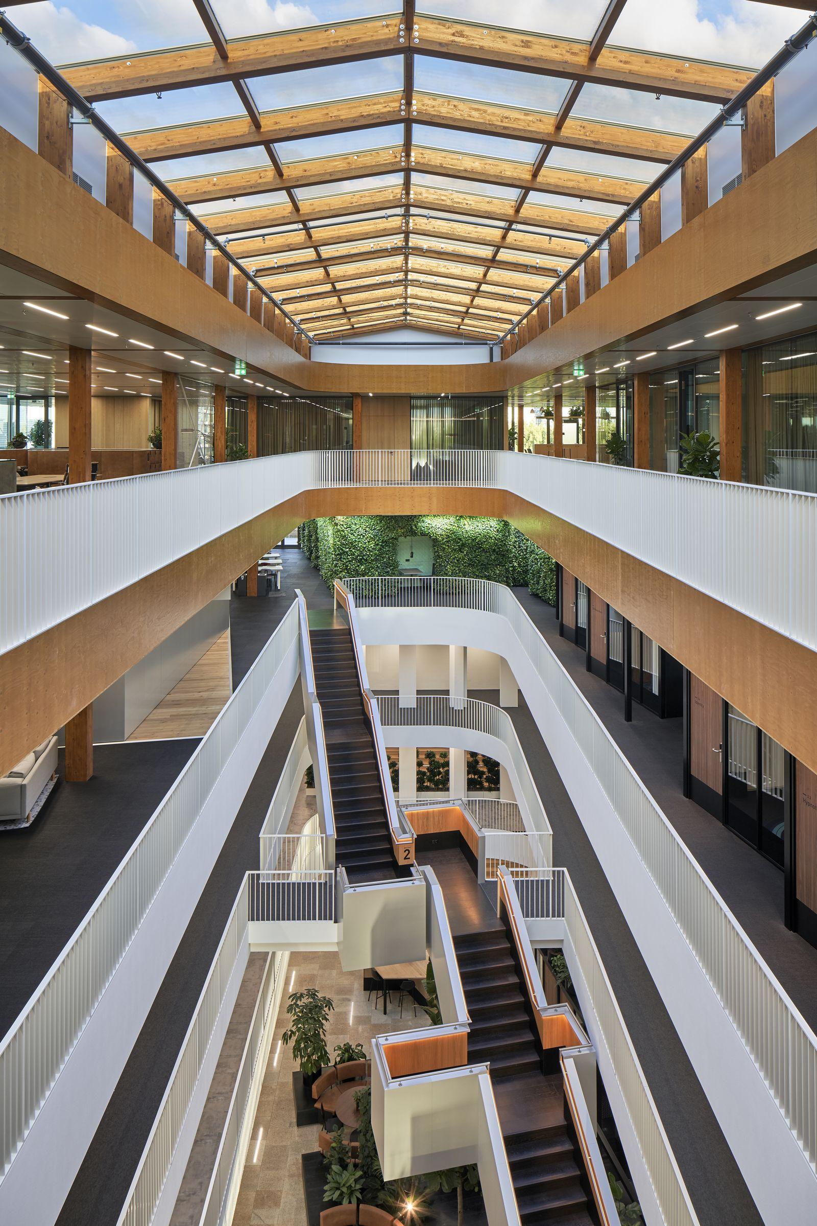 Long angle hallway