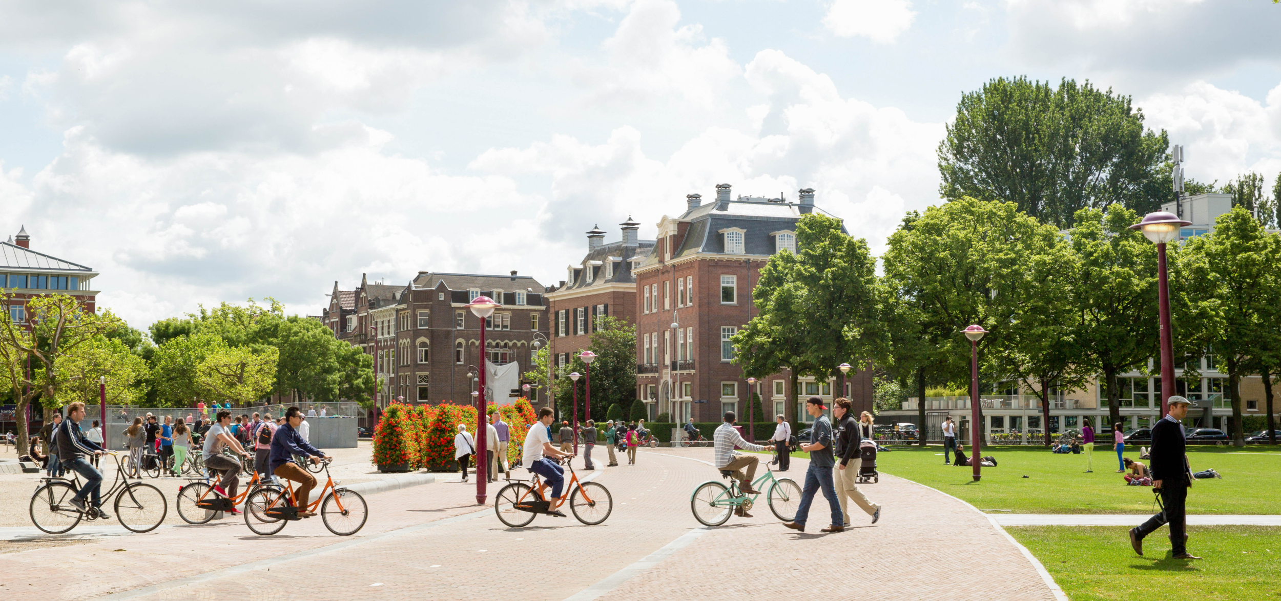 Amsterdam in the summer beautiful scenary