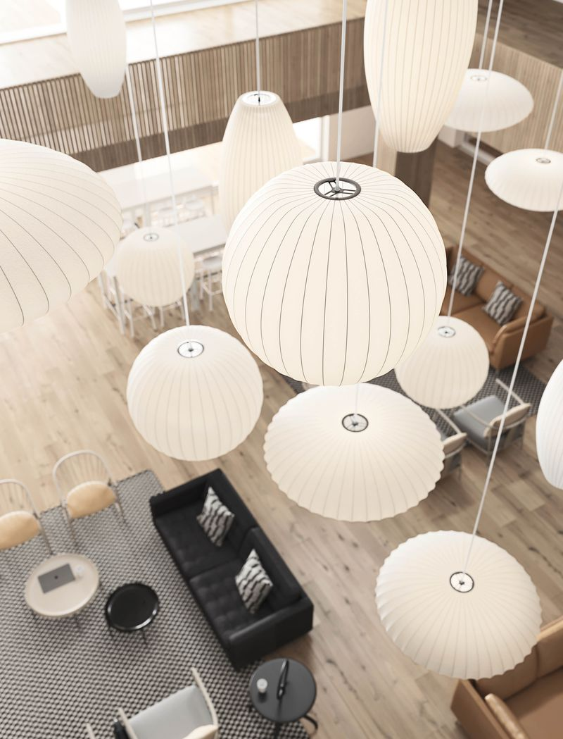 Lounge area with pendant lamps in Nordic Light.jpg