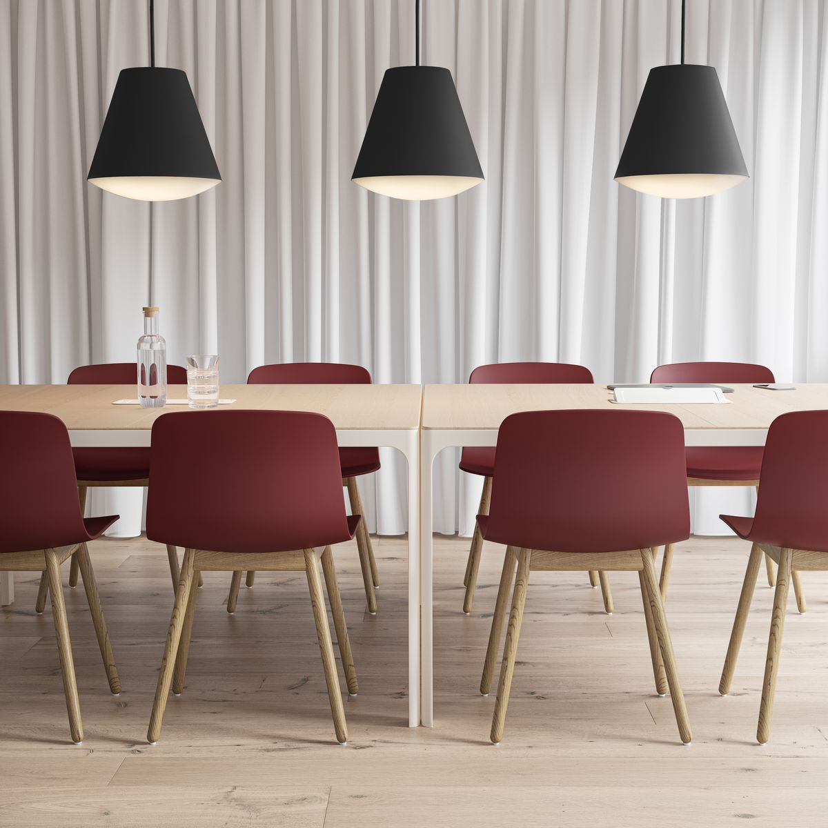 Nordic Light Red Meeting Room