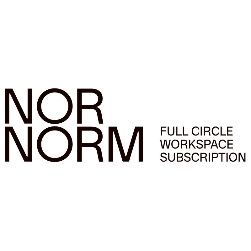 NORNORM logotype with tagline for download