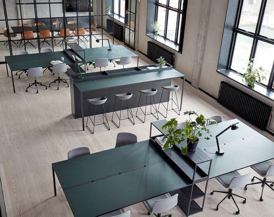 Open Office Collaboration workspace with dark british accents