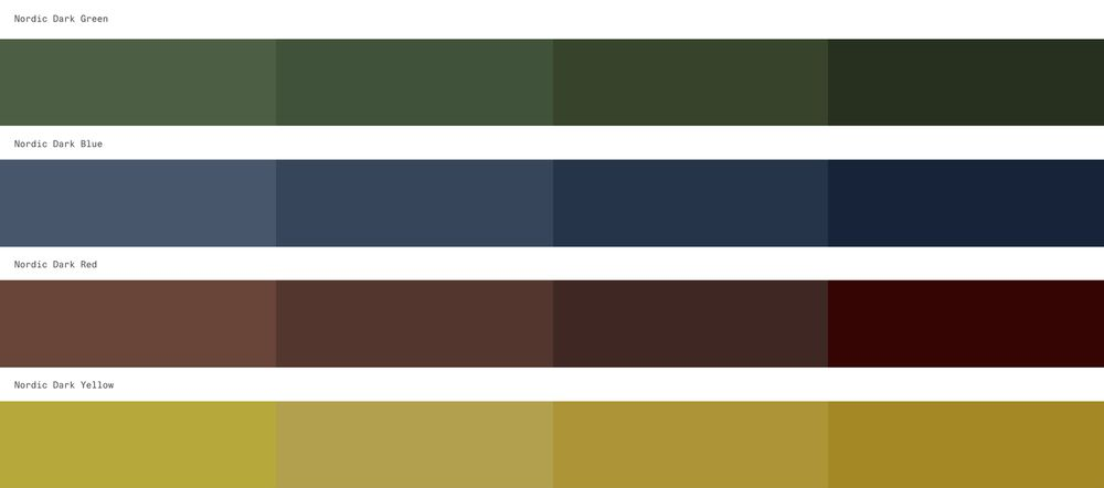 NORNORM Style Expressions Secondary colors
