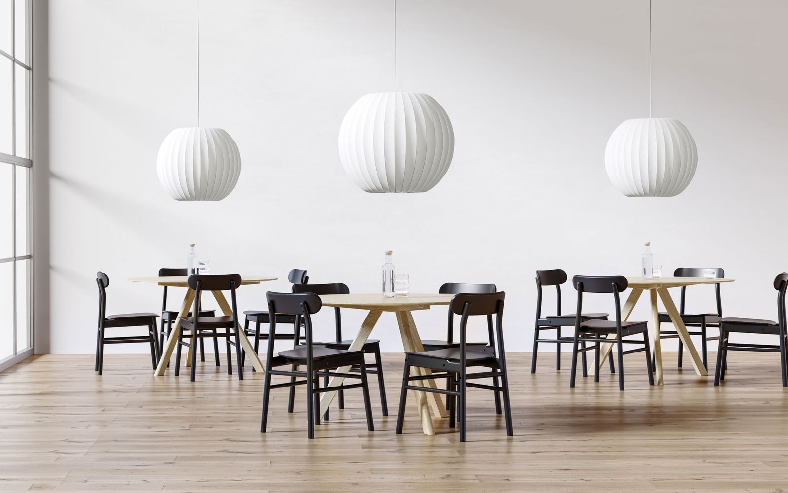 Dining area in nordic light