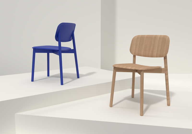 3D Illustration of office chairs