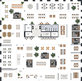 Floor plan from NORNORMs office planning tool